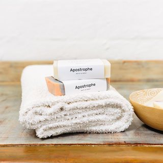 Apostrophe Bath & Body Care soaps
