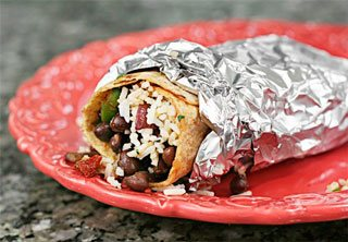 Bean and Cilantro-Rice Burrito by D. Scott Carruthers