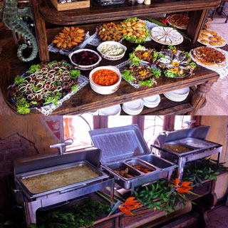 A buffet at Bocca Dolce