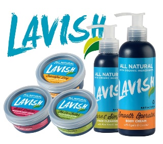 The Lavish Natural Skincare range of products