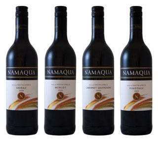 The Namaqua Wines bottled red range