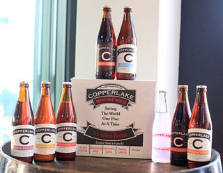 The Copperlake beers range