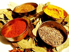 Turmeric is often used as a spice in Indian cuisine - photo courtesy of Lotus Head at Stock.Xchng