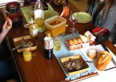 A vegan Thanksgiving dinner spread, Japan. Photo courtesy of Carey Finn