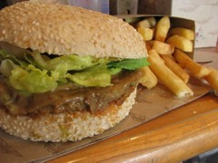 Veggie burger at Burger Fuel, New Zealand. Photo courtesy of Carey Finn