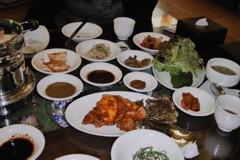 A vegetarian feast in Seoul, South Korea. Photo courtesy of Carey Finn