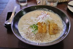 Vegan soy milk ramen. Photo courtesy of Carey Finn