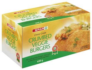Spar Crumbed Veggie Burgers