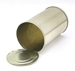 Tin can - photo courtesy of Michael Lorenzo at Stock.Xchng
